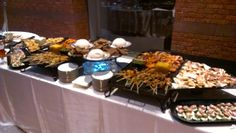 A stationary hors d'oeuvres display.