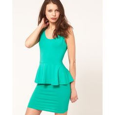 Asos peplum dress. Love the color, love the style.