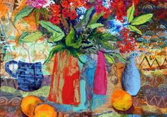 Like Disney's Frozen, artist Mitzie Green's mantra is letting go. Sandra Smith meets the painter in her Berkhamsted studio surrounded by her fresh and vibrant depictions of places, spaces and flowers Disney S, Vibrant, Collage, Pottery, Sculpture, Exhibitions, Green, Flowers, Painting