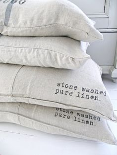 Stone washed, pure linen