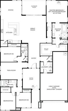 Explore Plan 2 in Keystone, Skye Canyon. Find the latest home with 4 beds, 3 baths, 2816 sq ft (approx). Contact our new home specialist! Barn Homes Floor Plans, House Floor Plans, Pardee Homes, Pole Barn Homes, Master Room, House Blueprints, Sims House, Cabins And Cottages, New House Plans