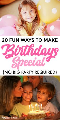 20 ways to make a kid's birthdays special without throwing a big party or going over budget. Make Kid's birthdays special without spending a fortune. birthday 20 Ways to Make Birthdays Special (No Big Birthday Party Required) Special Birthday, Birthday Fun, Birthday Parties, Home Birthday Party Ideas, Birthday Morning, Kid Parties, Birthday Activities, Activities For Kids, Kids And Parenting