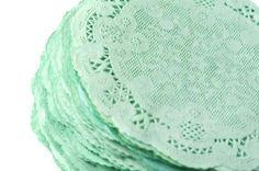 Paper Doilies Mint Green