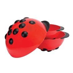 These ladybugs will bring you kitchen luck! These high density plastic bowls have soft-grip feet and handles. The foot design allows the user to mix at an ergonomically correct angle. Double as serving bowls. 5, 3, & 1.5 quart, set of three banded. Dishwasher safe. NOTE: Not recommended for use with an electric hand mixer.