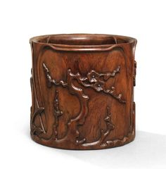A Fine Zitan Wood Brush Pot With Inlay And Carved Poem Gold Seal Mark Asian Antiques China