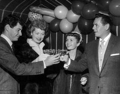 Lucy & Desi with Debbie Reynolds and Eddie Fisher
