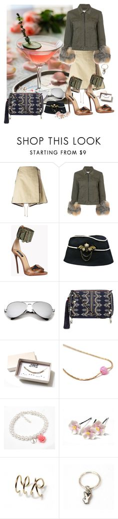 """""""Military"""" by treasury ❤ liked on Polyvore featuring Sacai, Cinq à Sept, Dsquared2 and Accessorize"""