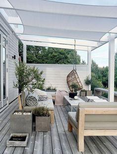 Pergola Attached To House Decks Home - Pergola Terrasse Suspendue - - Pergola With Roof Ideas - Contemporary Pergola DIY - Pergola De Madera Balcon Outdoor Rooms, Outdoor Decor, Patio Design, Exterior Design, Outdoor Space, Pergola Designs, Outdoor Design, Pergola Plans
