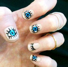 Eyes Nail Art Designs  #naildesigns #nailart