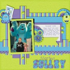 Scare Floor Kit, I love sulley! Look how cute he is! This kits colors and elements are perfect for Monsters Inc pictures!