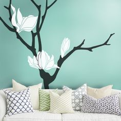 Magnolia Flower Tree Decal #SimpleShapes