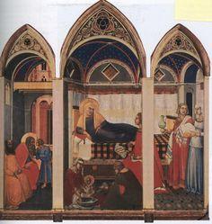 pietro lorenzetti - Birth of the Virgin (circa 1340)