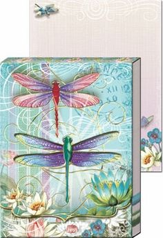 Blue Dragonfly  Diecut Pocket Note Pad - $5.99 - These would make gorgeous wedding favors, or bridal party gifts!