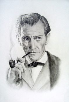 Peter Cushing (The Hound of the Baskervilles) by Pidimoro.deviantart.com on @deviantART