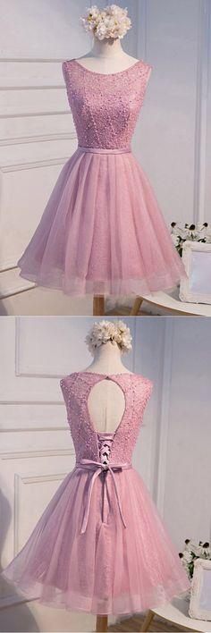 Prom Dresses 2019, A-Line Homecoming Dress #PromDresses2019 #ALineHomecomingDress