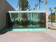 copper patina fountain