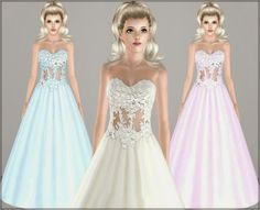 Wedding dress 15 by Irida - Sims 3 Downloads CC Caboodle