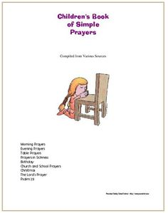 Simple Book Of Prayers For Sunday School 26 Page EBook Filled With Fun Prayer Activities