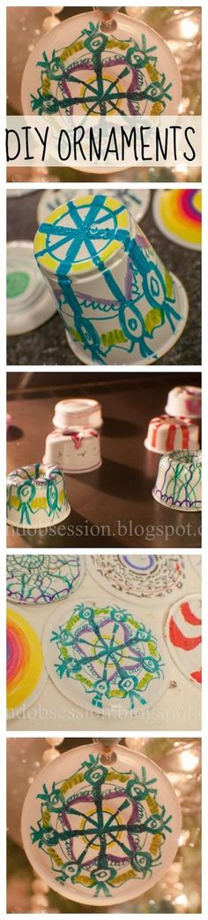 DIY shrinking Christmas Ornaments for Kids these are fun and easy.  We made SO many.