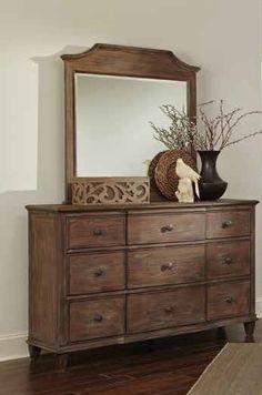 Dalgarno Mushroom Wood Glass Dresser