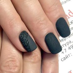 Pin for Later: 25 Black Nail Ideas to Break the Manicure Monotony Flocked