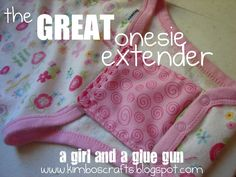 A girl and a glue gun: Extend the life of your onesies...