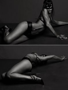 Rihanna may not be conservative and demure at the best of times but this is near the knuckle even for her. Has Rihanna been watching Fifty Shades of Grey by any chance? The R&B star wears an eye mask and black leather bikini with straps that look like something out of Christian Grey\'s red room in a new teaser video for her upcoming shoot with AnOther Magazine. The video was part of her sexy front cover shoot, and she\'s celebrating with THIS as a teaser.