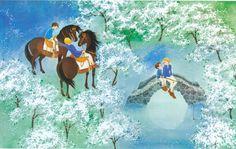 Ilon Wikland illustration · for Astrid Lindgren's 'The Brothers Lionheart' Best Children Books, Childrens Books, Illustration Art, Illustrations, Environment Concept Art, Great Artists, My Drawings, Elsa Beskow, Fairy Tales