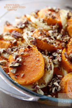 Honey Glazed Apple & Sweet Potato Casserole Recipe