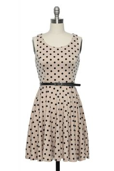 I love polka dots what can I say. And this dress is totally work appropriate.