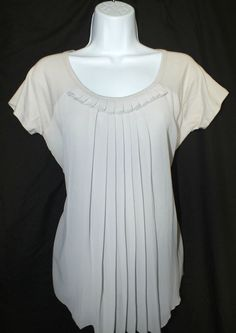 August Silk Casual Short Sleeve Womens Top Blouse Size M #AugustSilk #Blouse #Casual