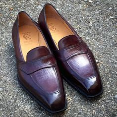 """gazianogirling: """"Bespoke reindeer casual with patina, finished at last. Mens Shoes Boots, Sock Shoes, Men's Shoes, Shoe Boots, Dress Shoes, Loafer Shoes, Loafers Men, Dress With Boots, Penny Loafers"""