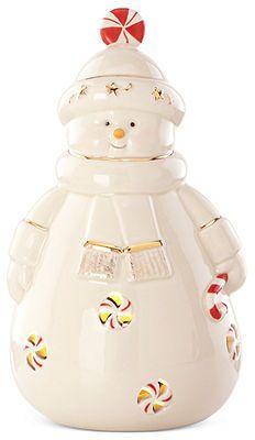 Light Up Snowman Figurine Collectible Figurines - Macy's Lenox Christmas, Christmas Cookie Jars, Christmas Dishes, Christmas Snowman, Christmas Gifts, Christmas China, Santa Figurines, Collectible Figurines, Christmas Figurines