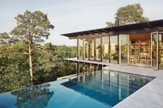 Andreas Martin-Löf Arkitekter is an award winning architectural practice based in Stockholm, Sweden. Hillside Pool, Hillside House, Andreas Martin, Diy Casa, Cliff House, Weekend Vacations, Two Storey House, Villa, Rural Retreats