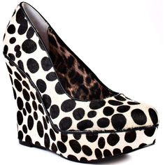 Betsey Johnson Women's Mixxy P - Black and White ($60) ❤ liked on Polyvore featuring shoes, wedge heel shoes, leopard shoes, multi color shoes, leopard platform shoes and leopard print shoes