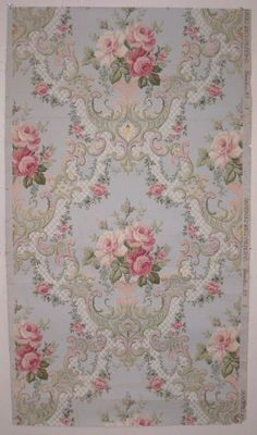 """""""Vintage Floral Wallpaper Wall Mural, Unprepasted Non-woven Fabric Each Roll is Inches Wide by 11 Yard Long, Covering 57 Square ft. Decoupage Vintage, Vintage Diy, Decoupage Paper, Shabby Vintage, Vintage Paper, Vintage Photos, Love Wallpaper, Fabric Wallpaper, Bedroom Wallpaper"""