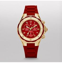 Tahitian Jelly Bean Red Gold Watch Tahitian Jelly Beans feature a dose of playful luxury in an irresistible range of colors. With a chronograph movement and a sporty strap and bezel, these timepieces are as undeniably fun as they are luxurious.