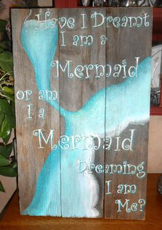 Hey, I found this really awesome Etsy listing at https://www.etsy.com/listing/287259453/mermaid-on-reclaimed-barnwood-beach