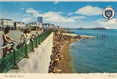 Vintage // Color Photo // Postcard // The Beach Hove by foundphotogallery on Etsy