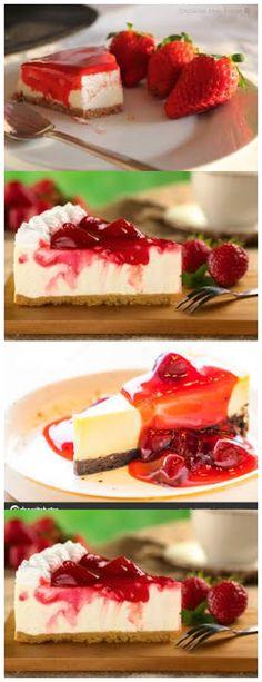 Erdbeerkäsekuchen, perfekt für Nachtisch in besonderen Anlässen !! 1 Packung Cracker (200g) 3 Esslöffel Margarine #Rezepte#Süßigkeiten#Desserts#Kuchen#Pudding#Schokolade#Weihnachten#Geburtstag#cheesecake