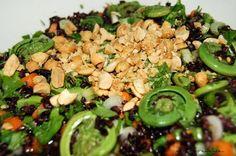 Mi Chiamo Candace's Asian Fiddlehead Salad