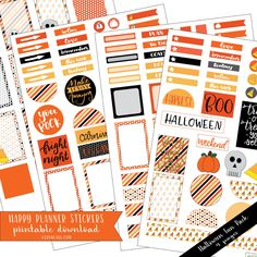 Halloween Planner Stickers - Downloadable Happy Planner Stickers available @lizoncall.com shop