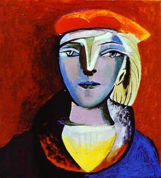 Picasso - 1937 portrait de Marie Thérèse au béret (private collection)