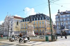 Praca Luis de Camoes in Lisbon, Portugal  More in my blog: http://heyrita.co.uk/2015/02/lisbon/