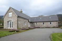 Braehead Steading, near Ballater, Royal Deeside. In the Cairngorms National Park, the area offers some of the most spectacular scenery in Scotland. Cairngorms National Park, National Parks, Scenery, Cottage, Cabin, Mansions, House Styles, Holiday Ideas, Home Decor