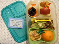 Leftover Lunch with Fruity Fun from Lunches Fit For a Kid in an Easylunchboxes Brights container