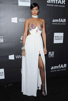 Rihanna - In Tom Ford at the amFAR Inspiration Gala in Los Angeles. - ELLE.com