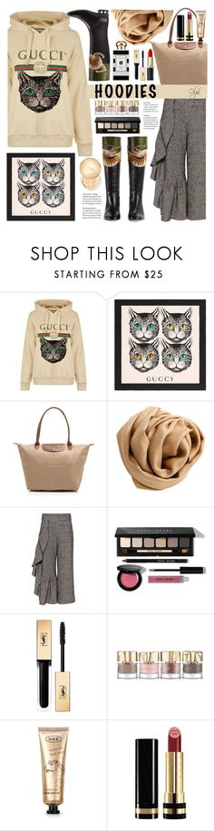 """""""Meow"""" by olga1402 ❤ liked on Polyvore featuring Gucci, Longchamp, Brunello Cucinelli, Rachel Comey, Bobbi Brown Cosmetics, Jo Malone, Yves Saint Laurent, Smith & Cult, Christian Dior and gucci"""