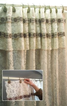 How To Make Shower Curtain With Absolutely No Sewing! Http://www.