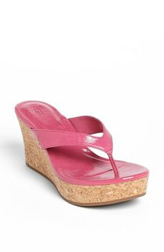 UGG® Australia 'Natassia' Sandal | Nordstrom - Princes pink thong... only if you feel pretty!